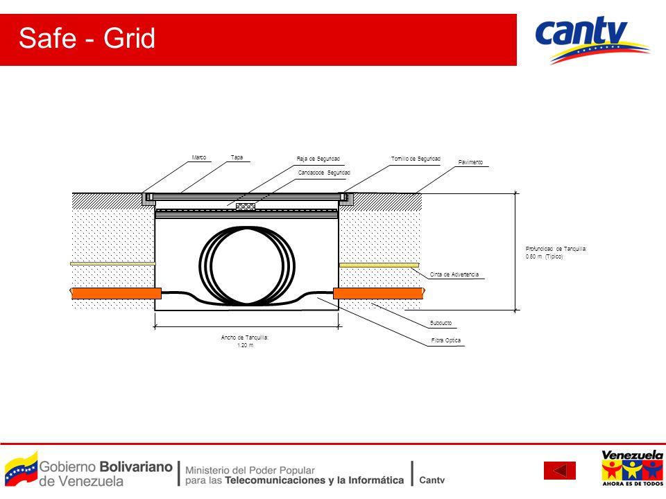 Safe - Grid Profundidad de Tanquilla: 0.60 m (Tipico)