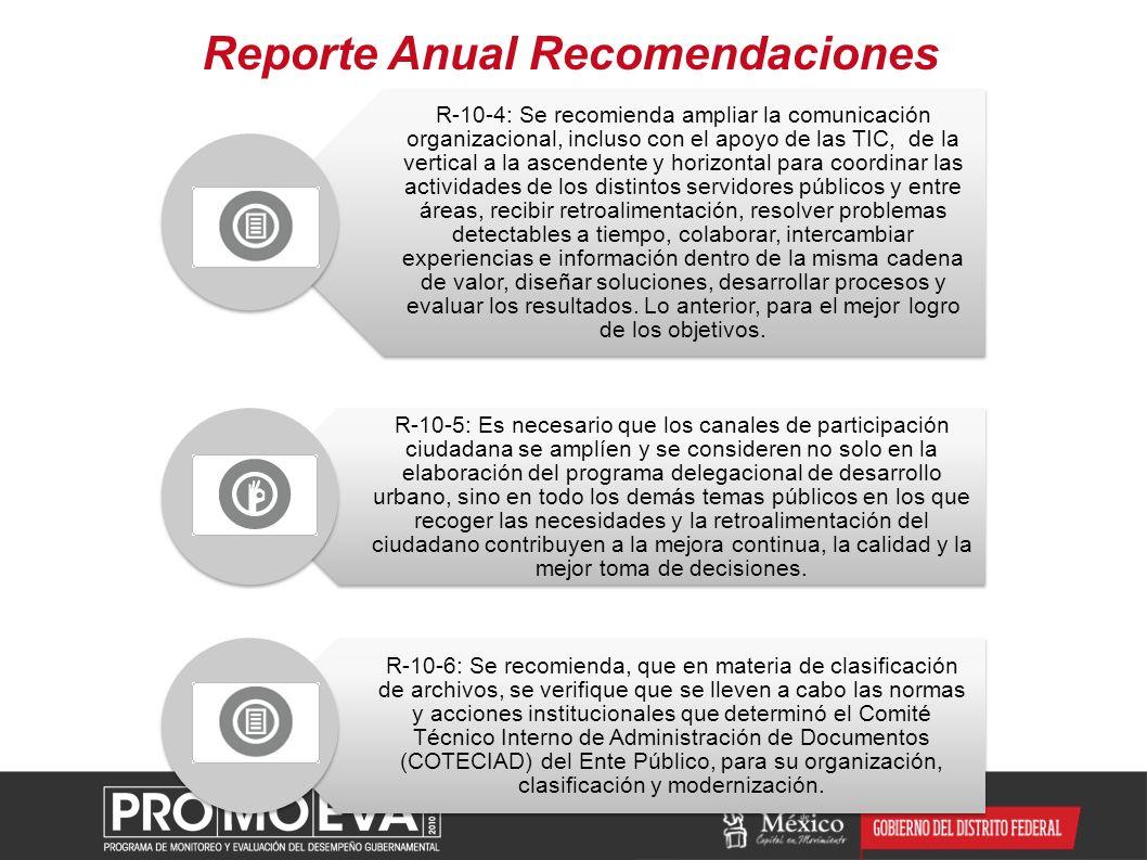 Reporte Anual Recomendaciones
