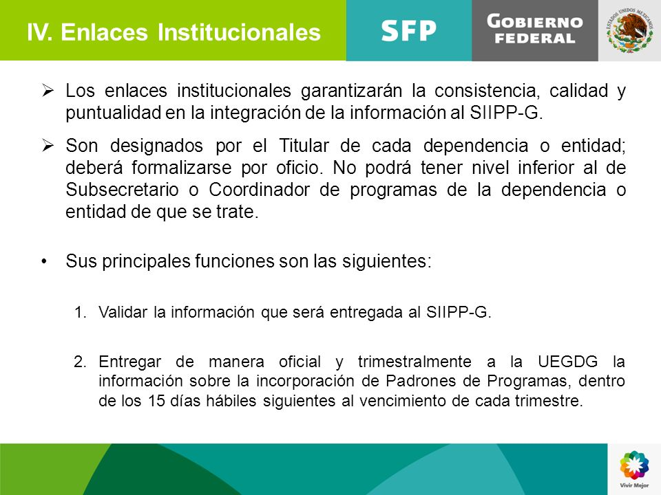 IV. Enlaces Institucionales