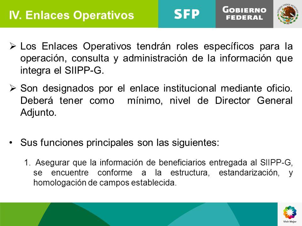 IV. Enlaces Operativos