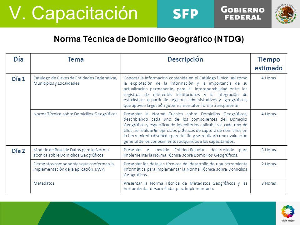 Norma Técnica de Domicilio Geográfico (NTDG)