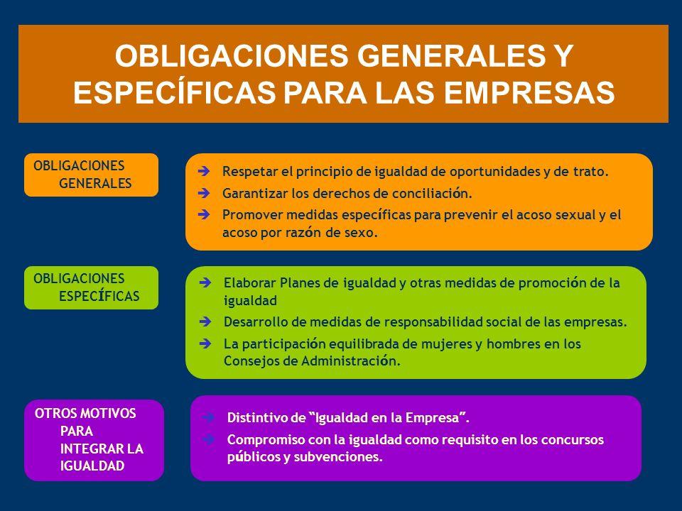 OBLIGACIONES GENERALES Y ESPECÍFICAS PARA LAS EMPRESAS