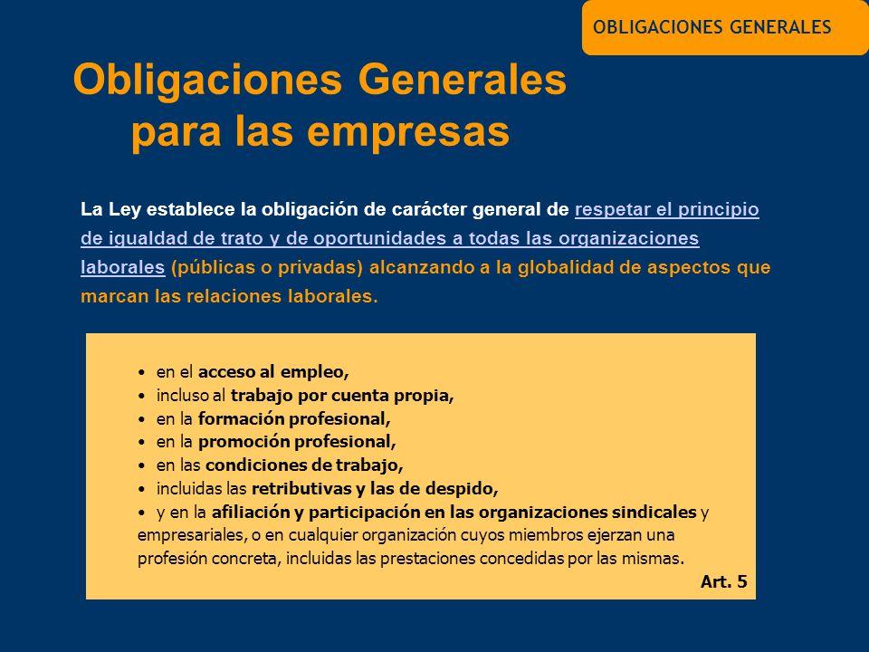 Obligaciones Generales para las empresas