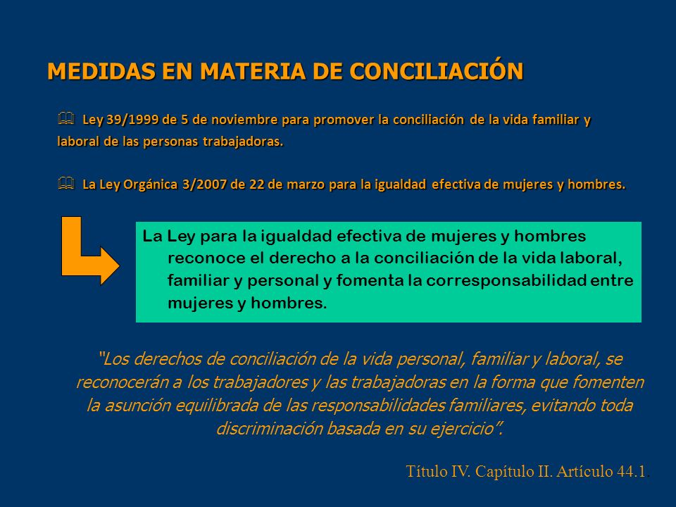MEDIDAS EN MATERIA DE CONCILIACIÓN