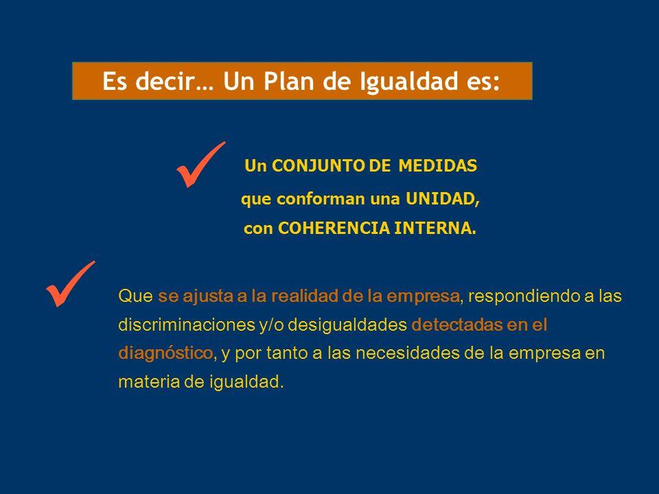   Es decir… Un Plan de Igualdad es: