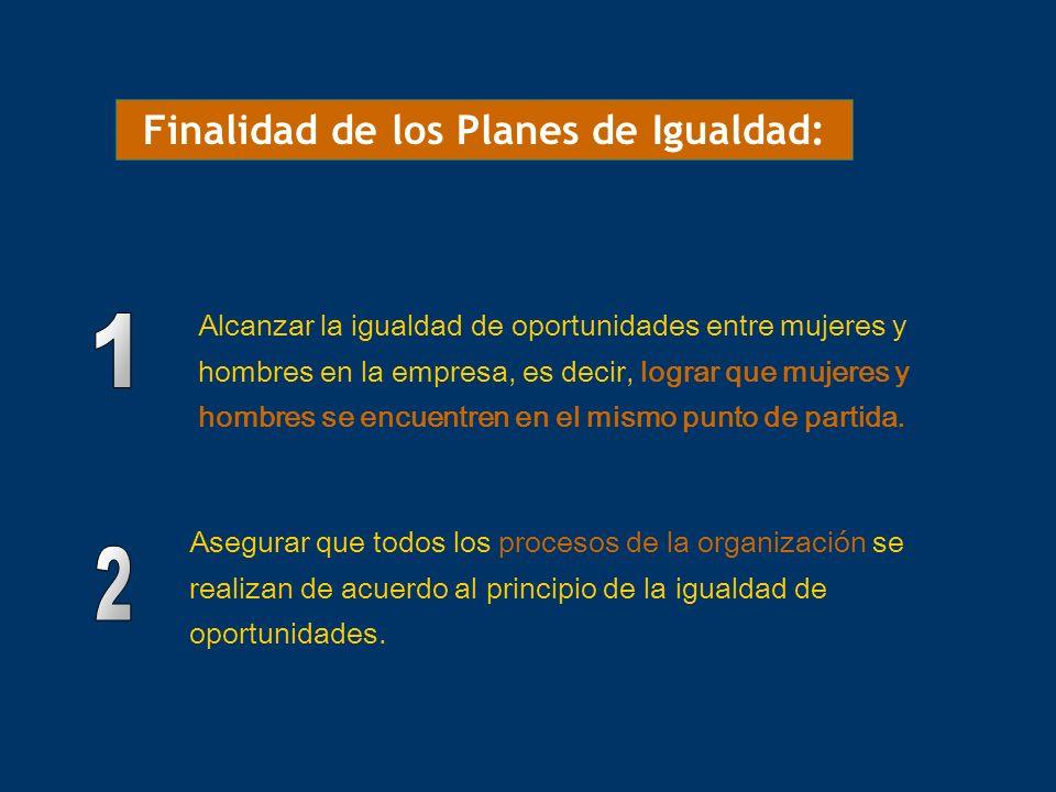 Finalidad de los Planes de Igualdad: