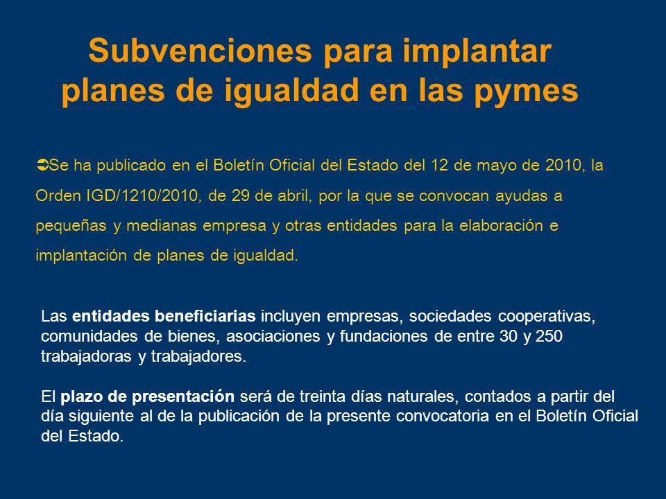 Subvenciones para implantar planes de igualdad en las pymes