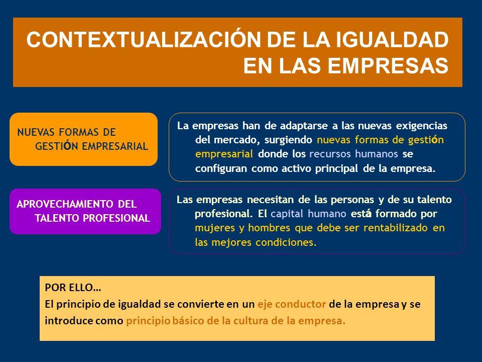 CONTEXTUALIZACIÓN DE LA IGUALDAD EN LAS EMPRESAS