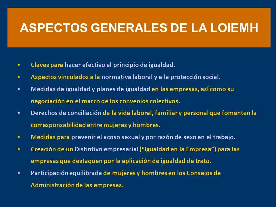 ASPECTOS GENERALES DE LA LOIEMH