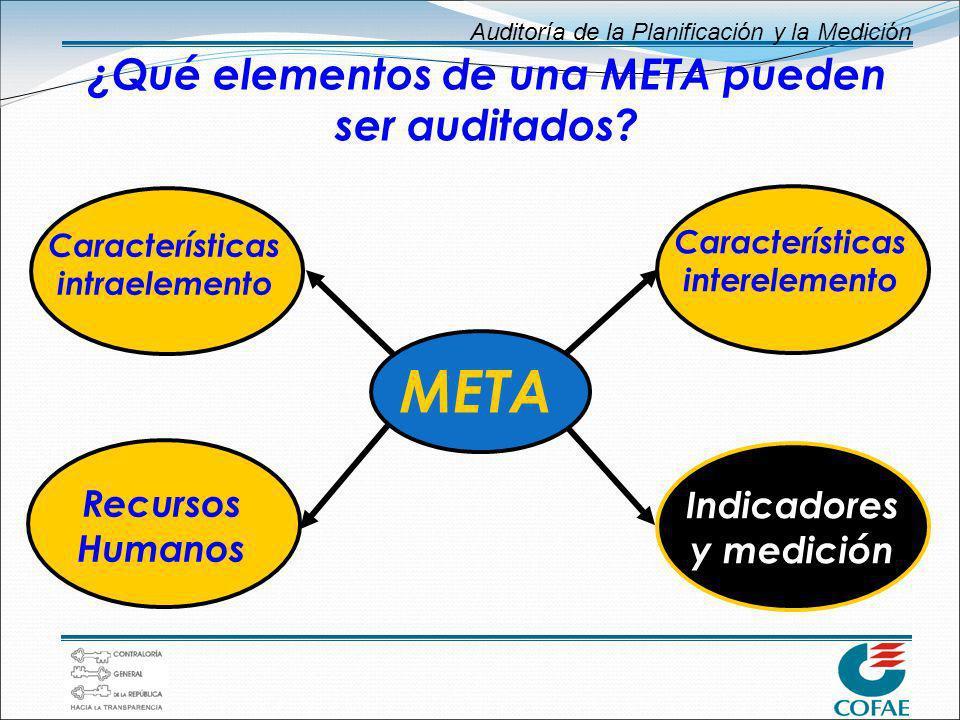 ¿Qué elementos de una META pueden ser auditados