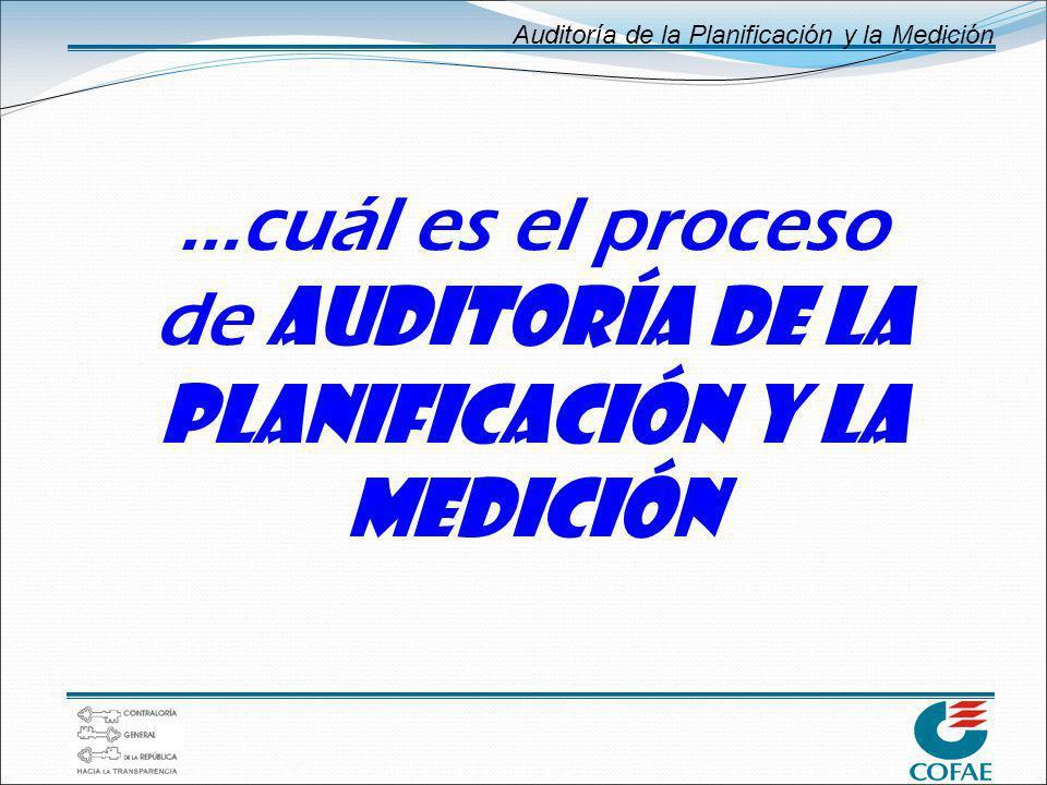 ...cuál es el proceso de AUDITORÍA DE LA PLANIFICACIÓN Y LA MEDICIÓN