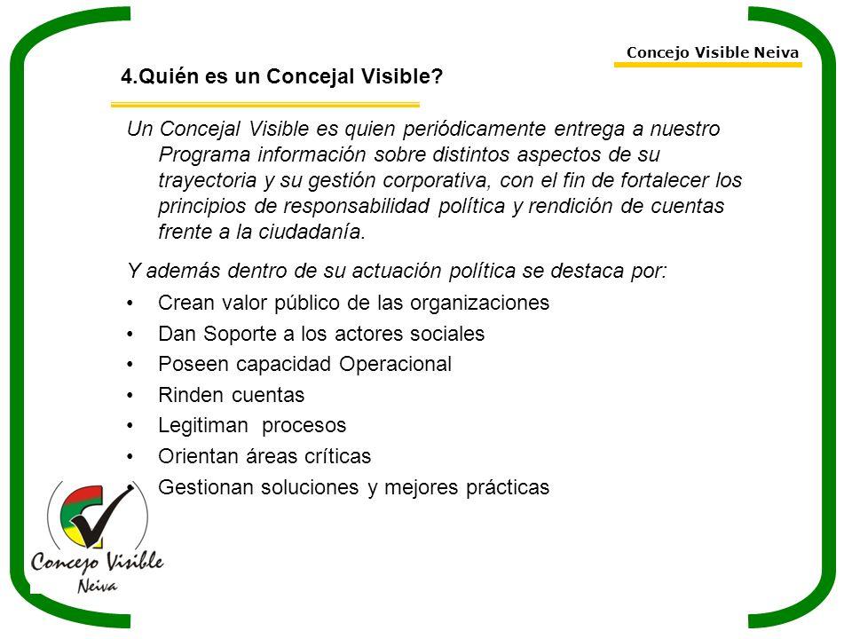 4.Quién es un Concejal Visible