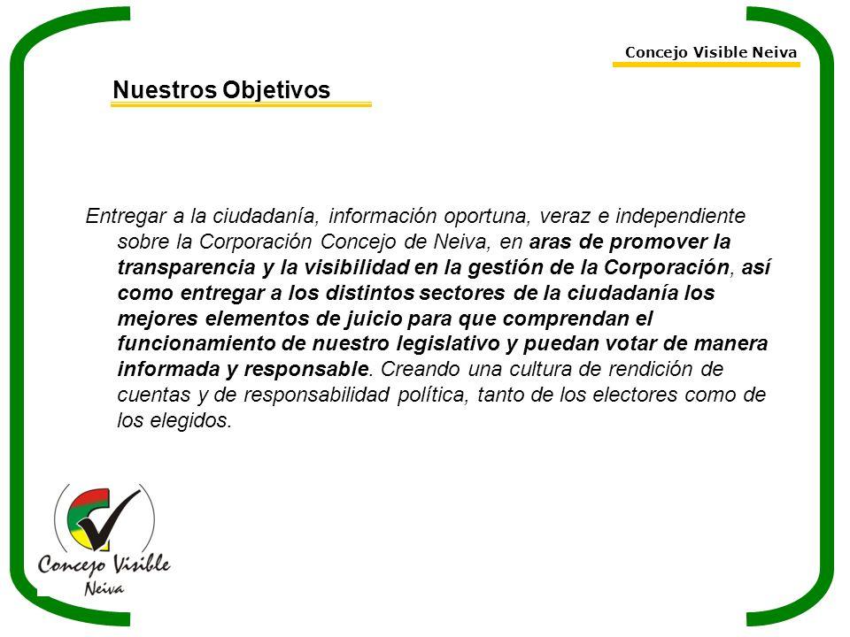Concejo Visible Neiva Nuestros Objetivos.