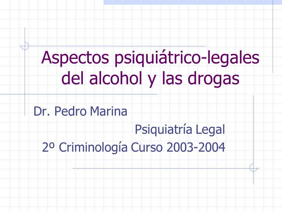 Aspectos psiquiátrico-legales del alcohol y las drogas