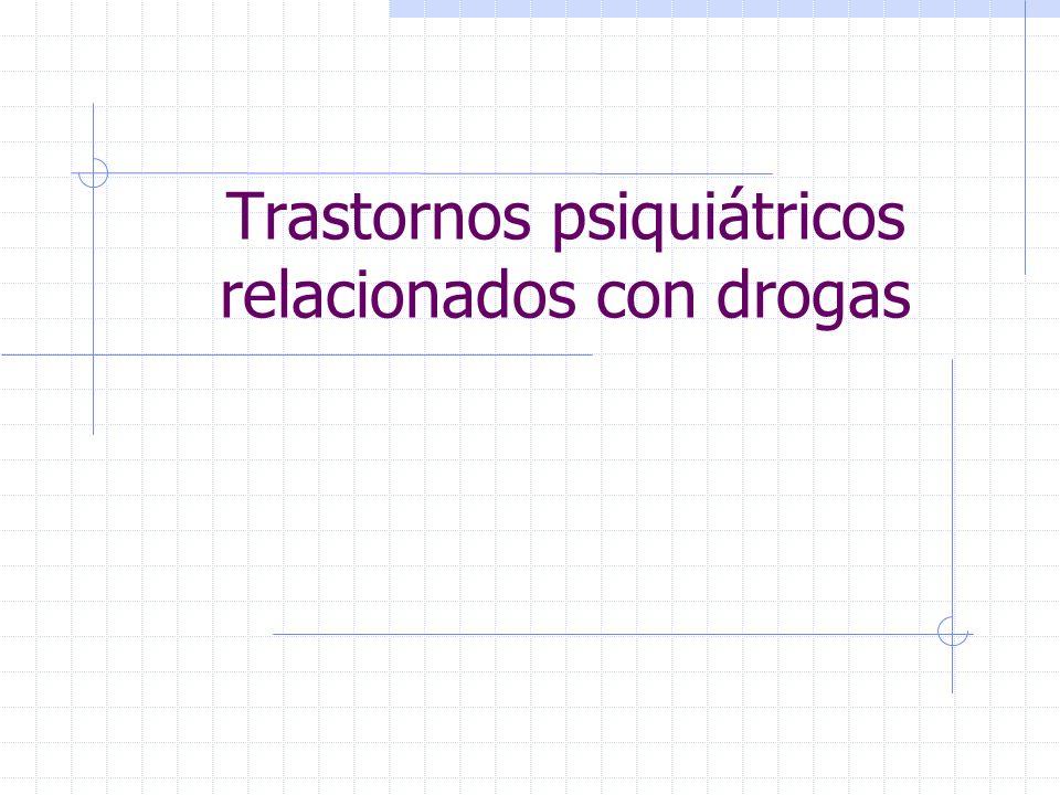 Trastornos psiquiátricos relacionados con drogas