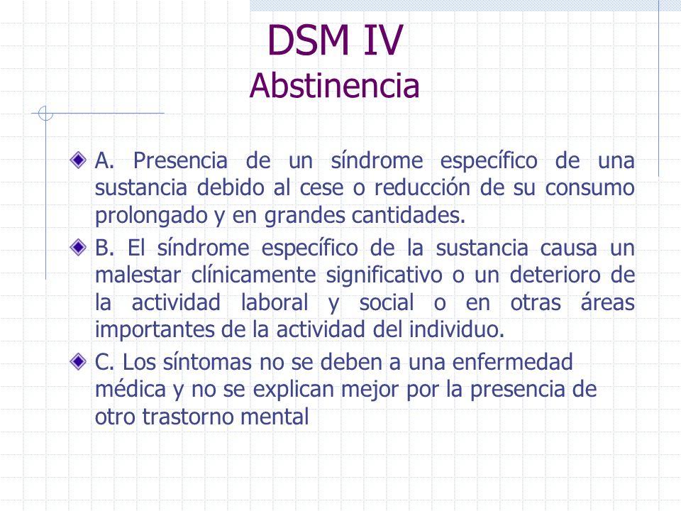 DSM IV Abstinencia