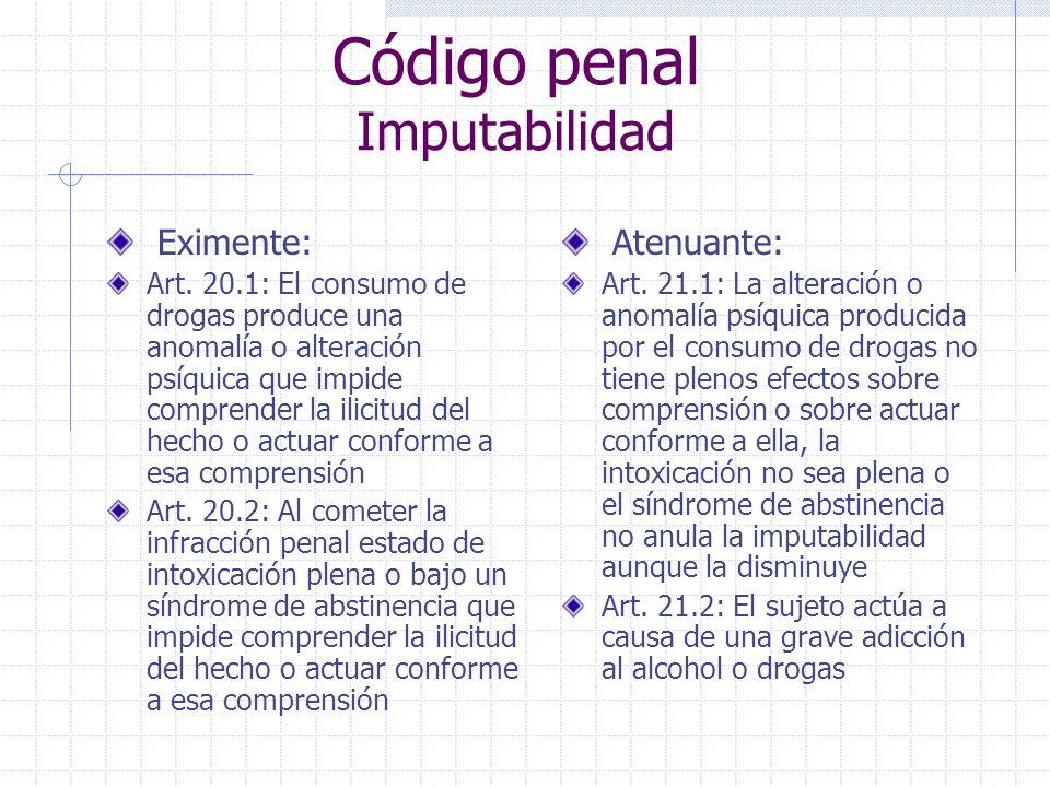 Código penal Imputabilidad