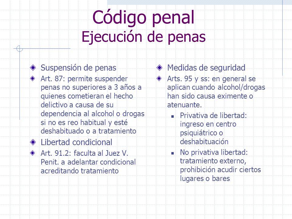 Código penal Ejecución de penas