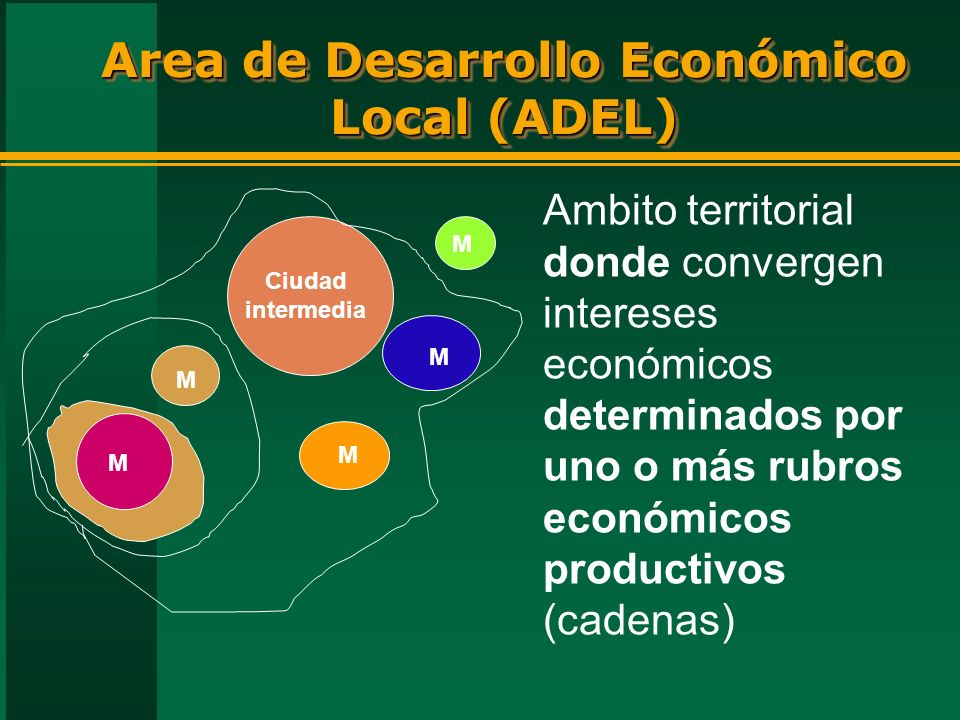 Area de Desarrollo Económico Local (ADEL)