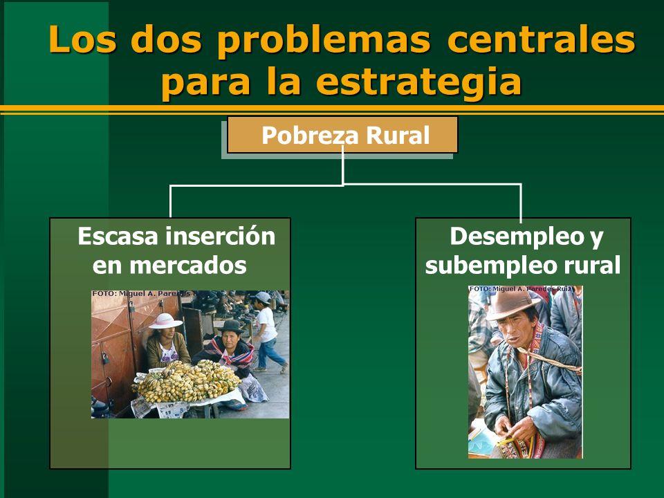 Los dos problemas centrales para la estrategia
