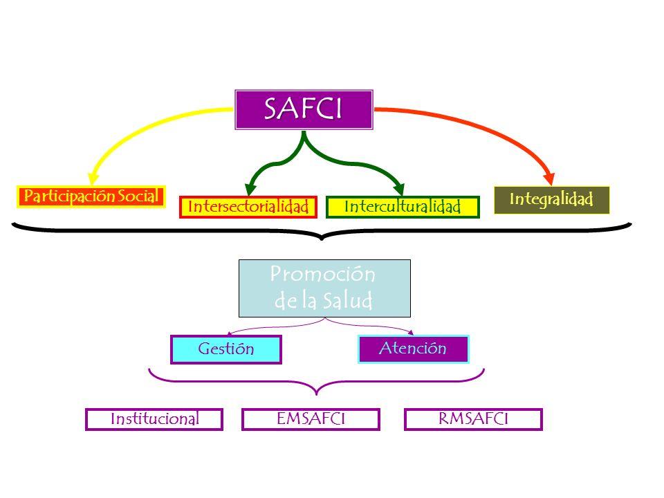 SAFCI Promoción de la Salud Participación Social Integralidad