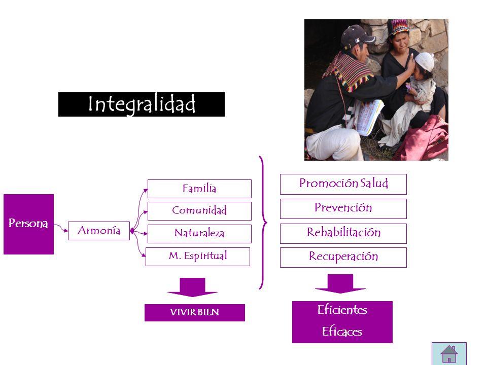 Integralidad Promoción Salud Prevención Persona Rehabilitación