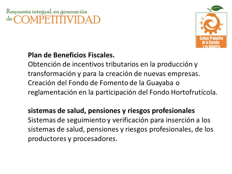 Plan de Beneficios Fiscales