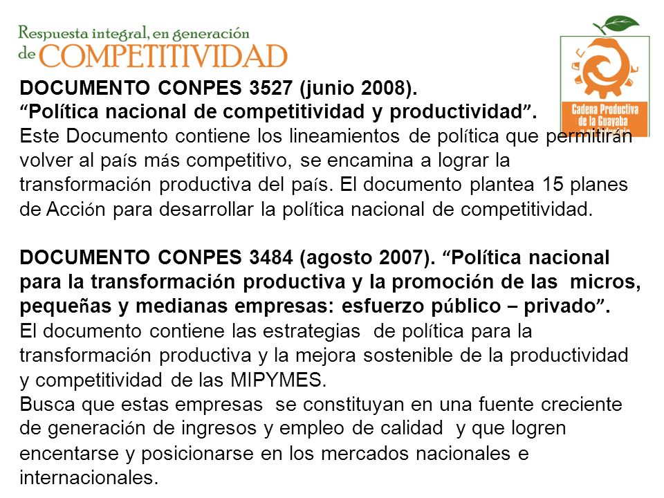 DOCUMENTO CONPES 3527 (junio 2008)