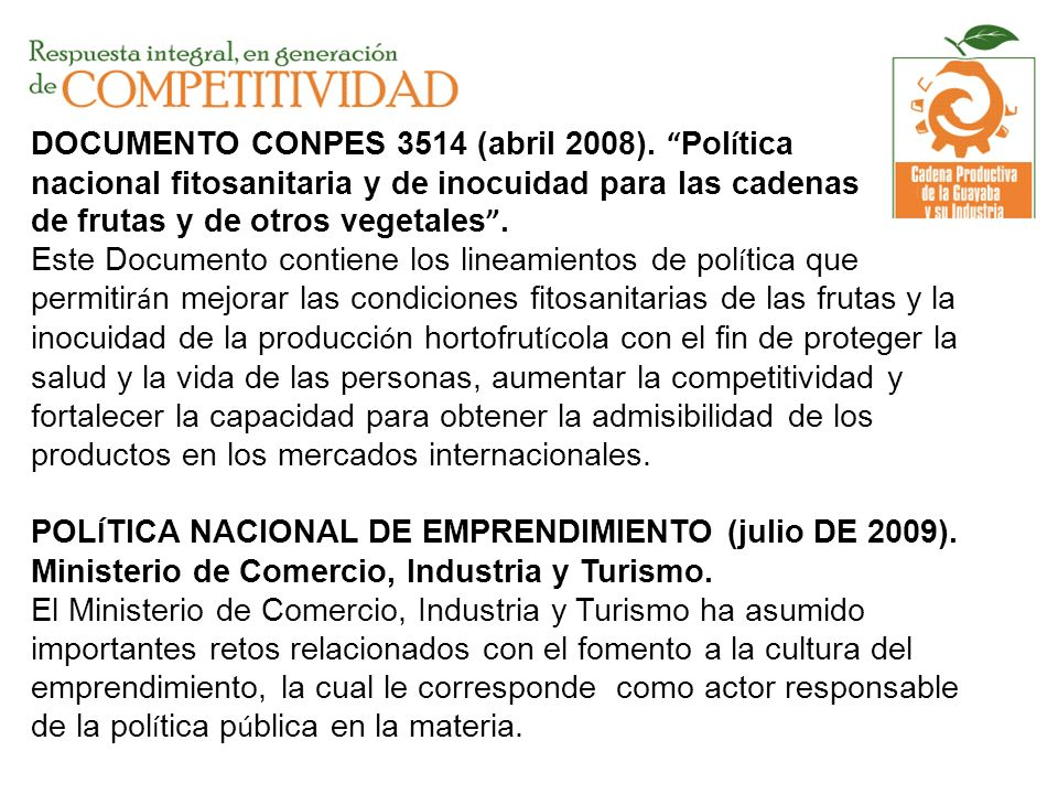 DOCUMENTO CONPES 3514 (abril 2008)