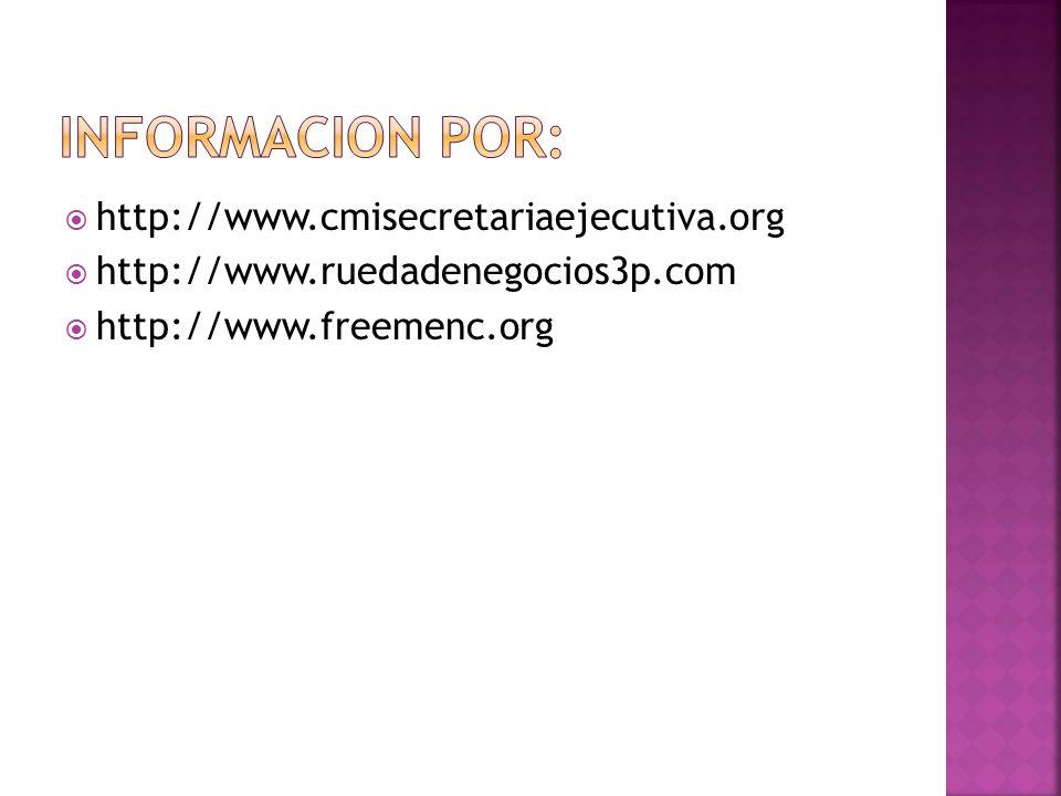 Informacion por: http://www.cmisecretariaejecutiva.org
