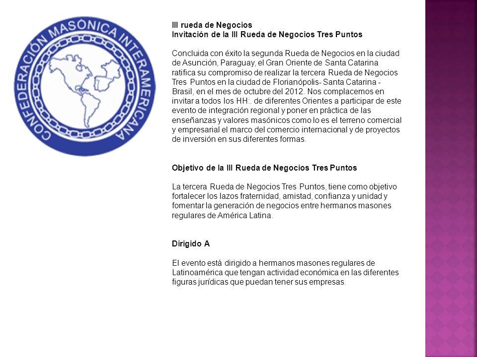III rueda de Negocios Invitación de la III Rueda de Negocios Tres Puntos.