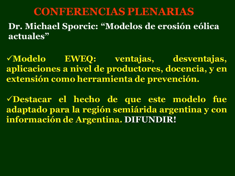CONFERENCIAS PLENARIAS