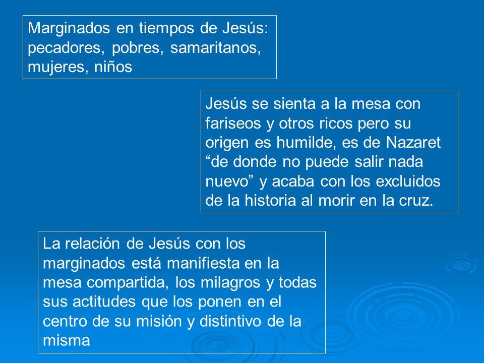 Marginados en tiempos de Jesús: pecadores, pobres, samaritanos, mujeres, niños