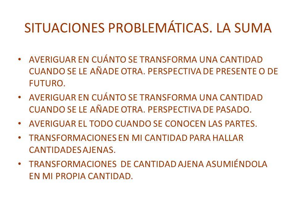 SITUACIONES PROBLEMÁTICAS. LA SUMA