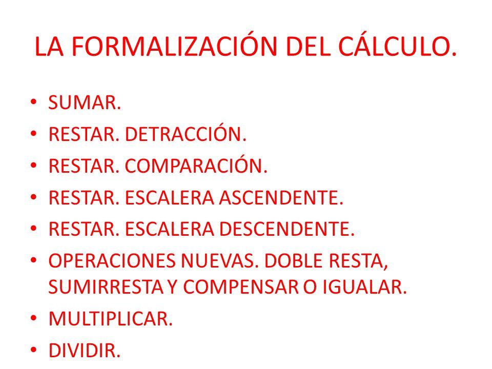 LA FORMALIZACIÓN DEL CÁLCULO.