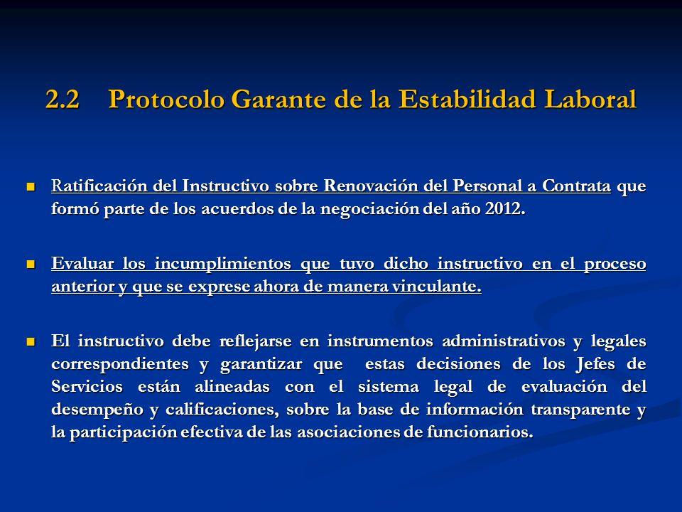 2.2 Protocolo Garante de la Estabilidad Laboral