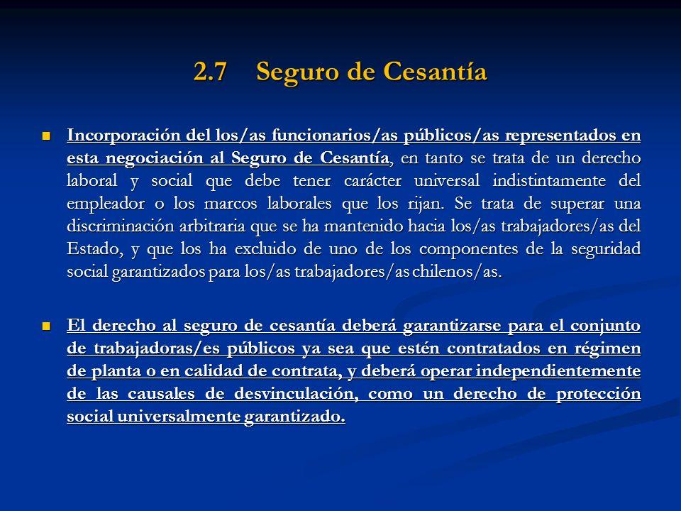 2.7 Seguro de Cesantía