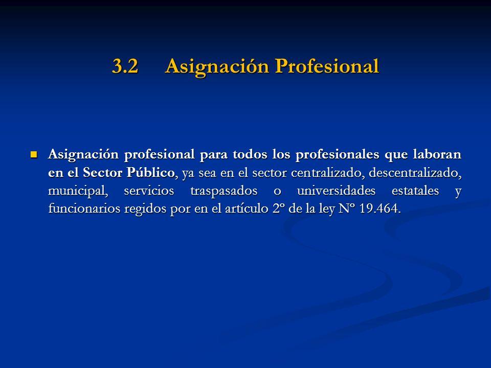 3.2 Asignación Profesional