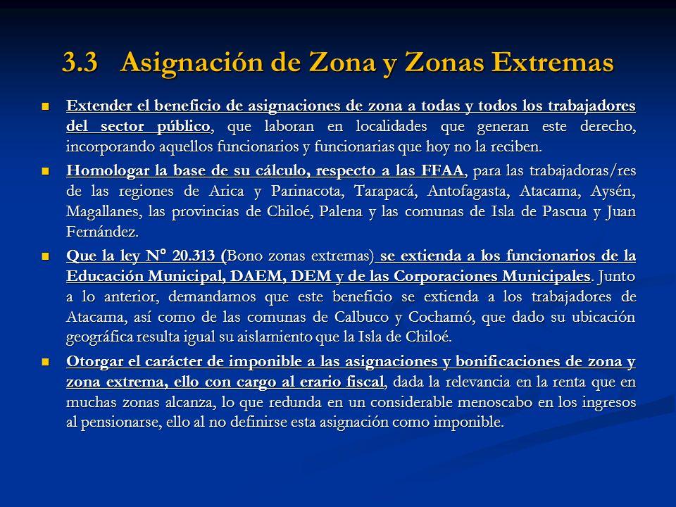 3.3 Asignación de Zona y Zonas Extremas