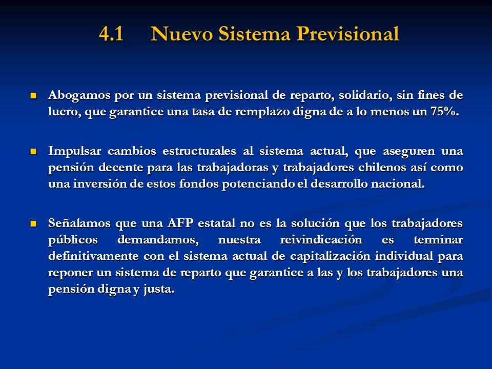 4.1 Nuevo Sistema Previsional