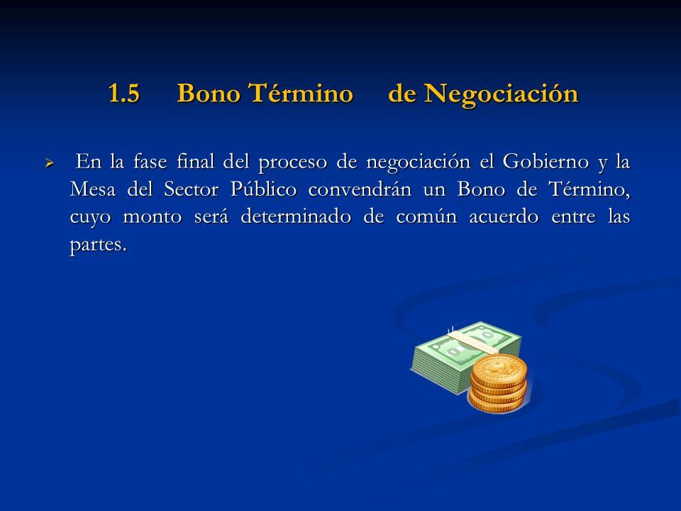 1.5 Bono Término de Negociación
