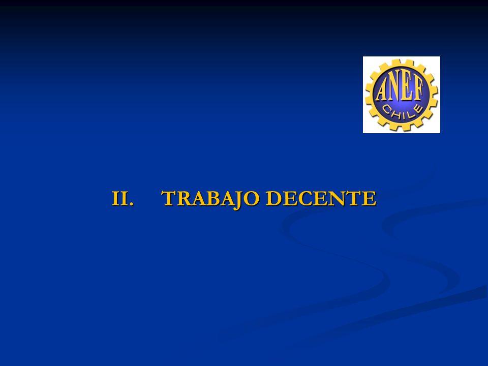 II. TRABAJO DECENTE