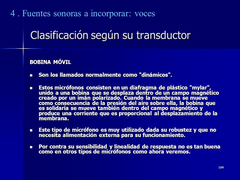 Clasificación según su transductor