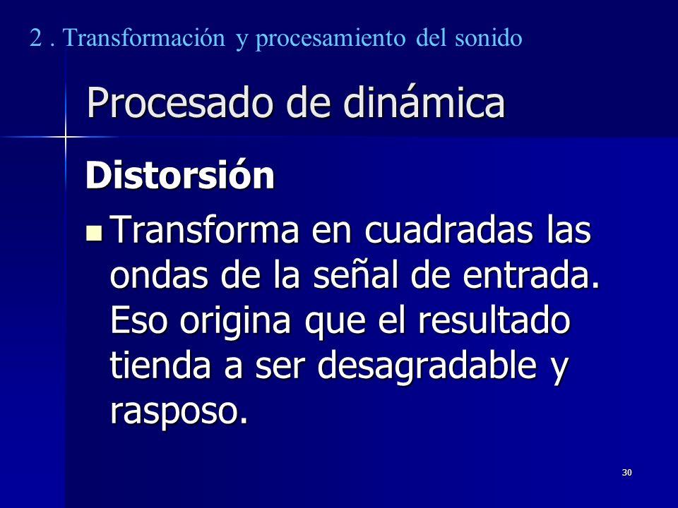 Procesado de dinámica Distorsión