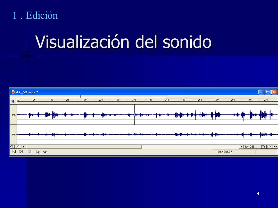 Visualización del sonido
