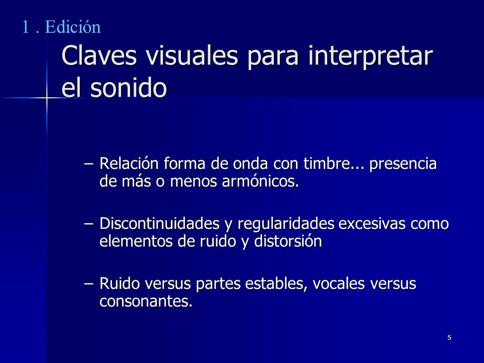 Claves visuales para interpretar el sonido