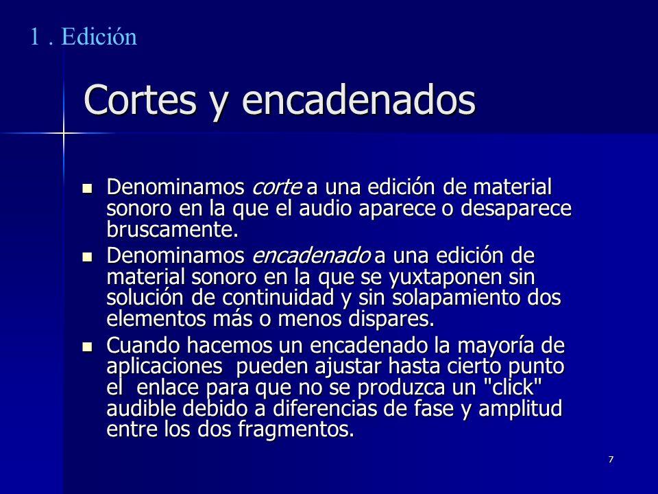 Cortes y encadenados 1 . Edición