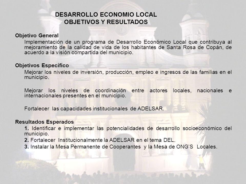 DESARROLLO ECONOMICO LOCAL OBJETIVOS Y RESULTADOS