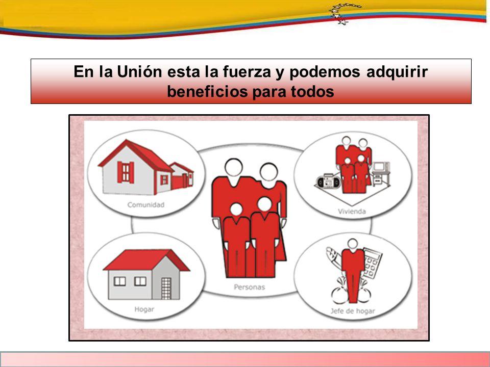 En la Unión esta la fuerza y podemos adquirir beneficios para todos