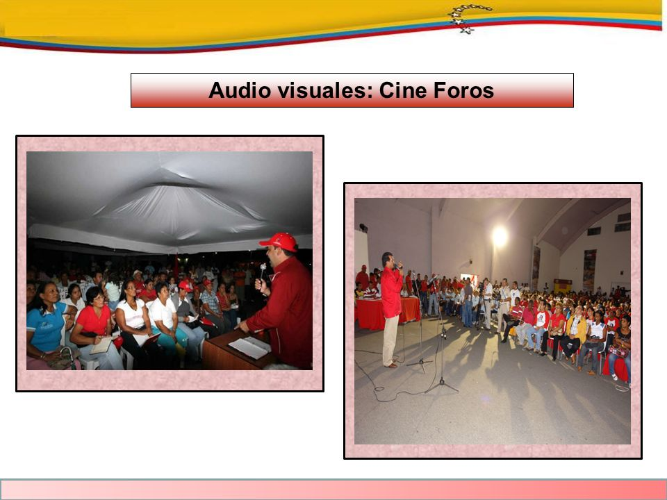 Audio visuales: Cine Foros